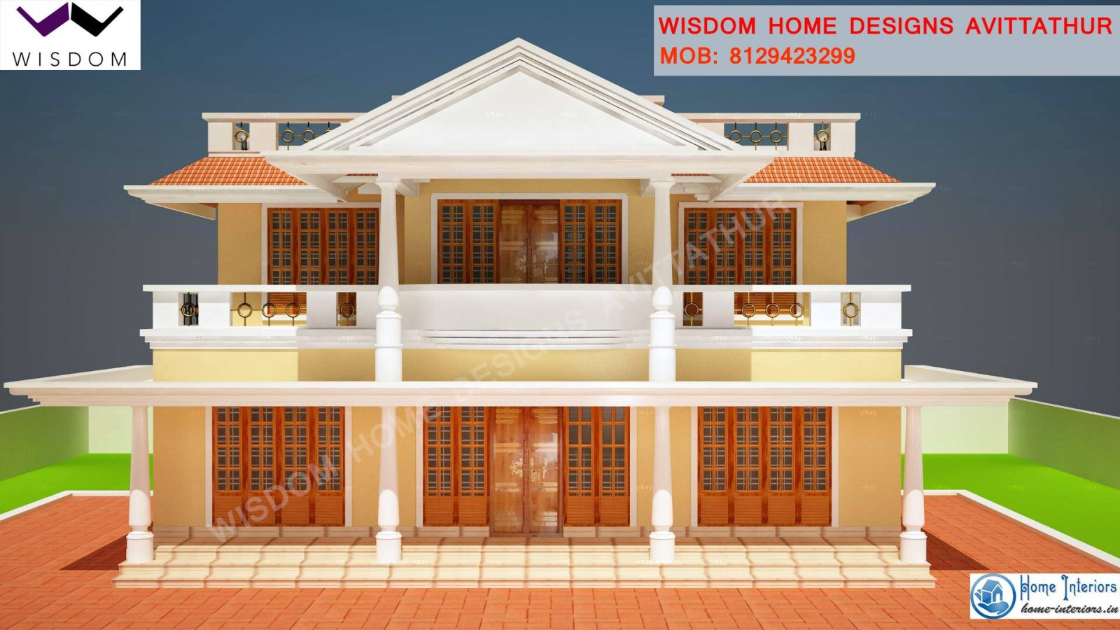 1900 sq ft slop roof style kerala home design for Kerala home designs 2015