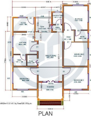 1152 Sq Ft Beautiful Home Design With Plan