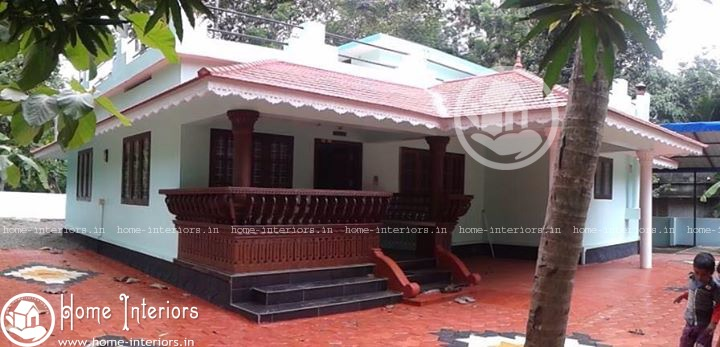 Beautiful home in kerala with plan 2015 for Beautifully painted houses in kerala