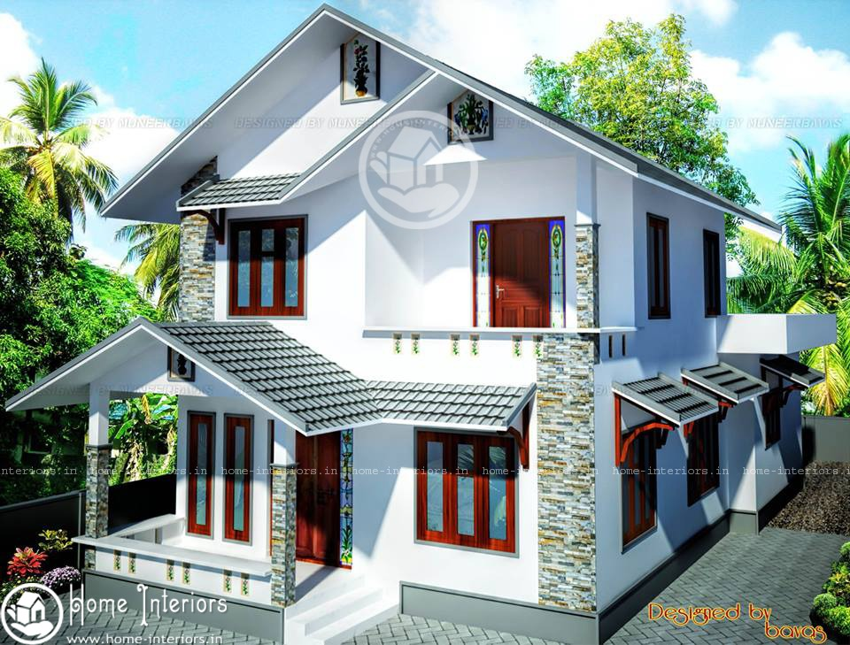 Double floor beautiful kerala home design plan for House plans with photos in kerala style