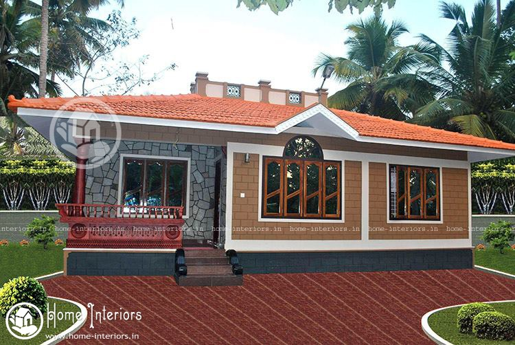750 sq ft stylish home design 10 lakh for Low cost per square foot house plans