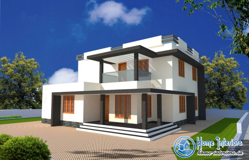 Kerala 2015 model home design for Contemporary house plans 2015