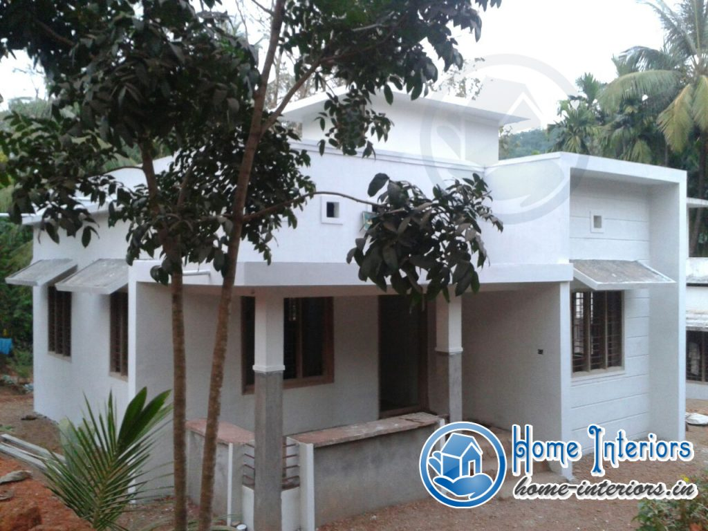 Beautiful kerala small budget home design for Small budget house plans in kerala