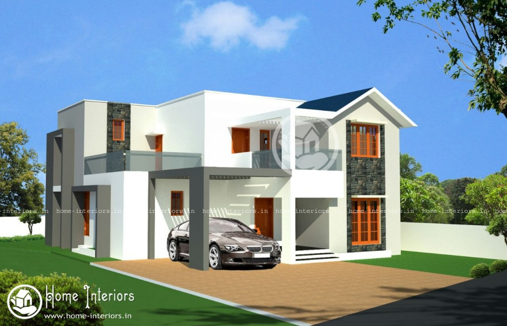 4bhk contemporary style home design House designs 2000 square feet