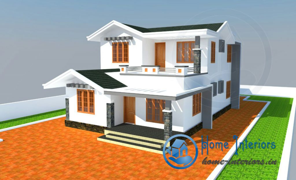 3bhk modern style house design 2015 for Home designs 2015