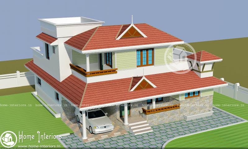 2500 Sq Ft Beautiful Kerala Home Design With Plan2500 Sq