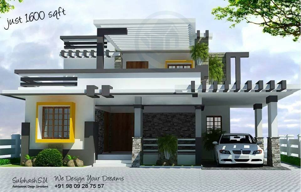 Modern concept home design 1600 sq ft for 1600 square foot house