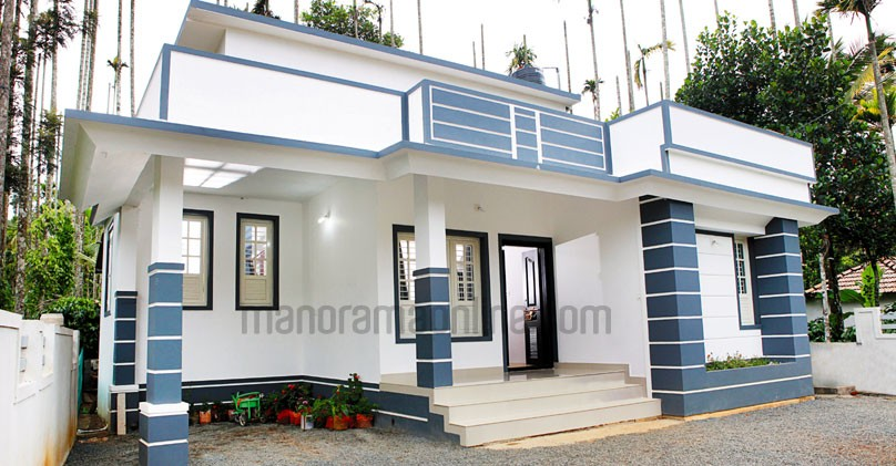 730 sq ft beautiful kerala home design with plan for 1000 sq ft house design for middle class