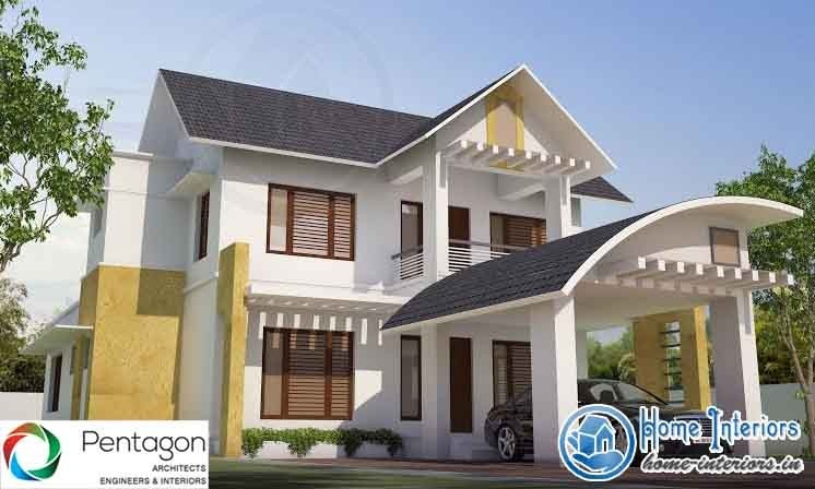 2500 sq ft modern style home design 40 lakh for Modern house plans 2500 square feet