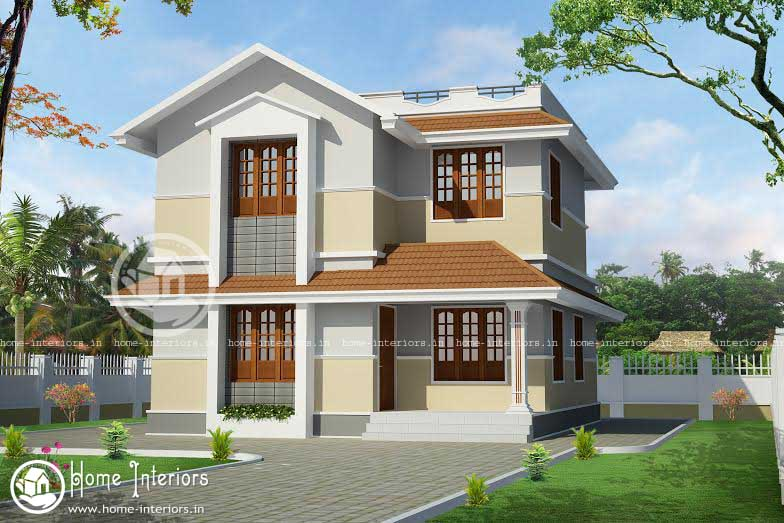 1400 sqft beautiful kerala home design for House plans with photos in kerala style