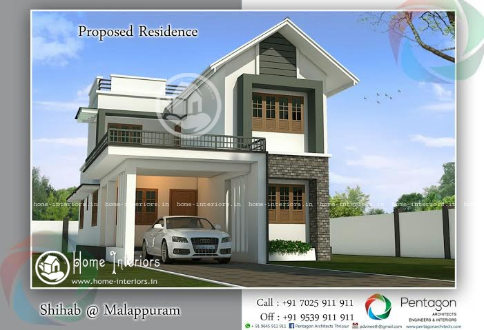 Ordinaire 1900 Square Feet Amazing And Beautiful Kerala Home Designs.