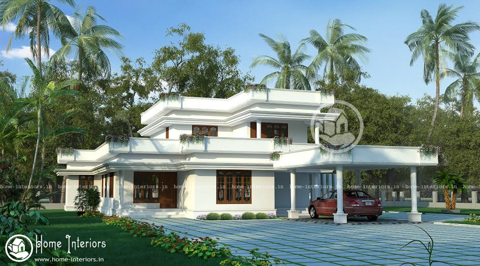 2412 sqft beautiful kerala home design for Kerala home designs com