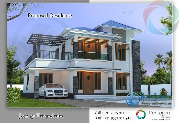 1365 Sq Ft Super Double Floor Home Design With Plan
