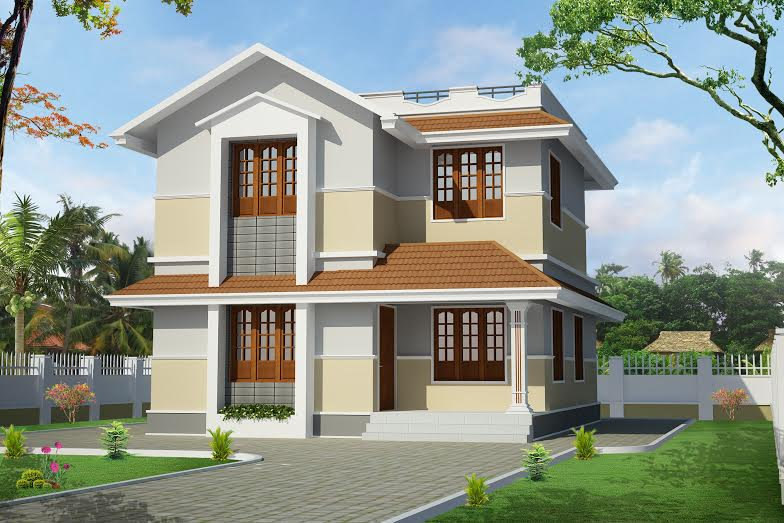 1400 sqft beautiful kerala home design Old home renovation in kerala