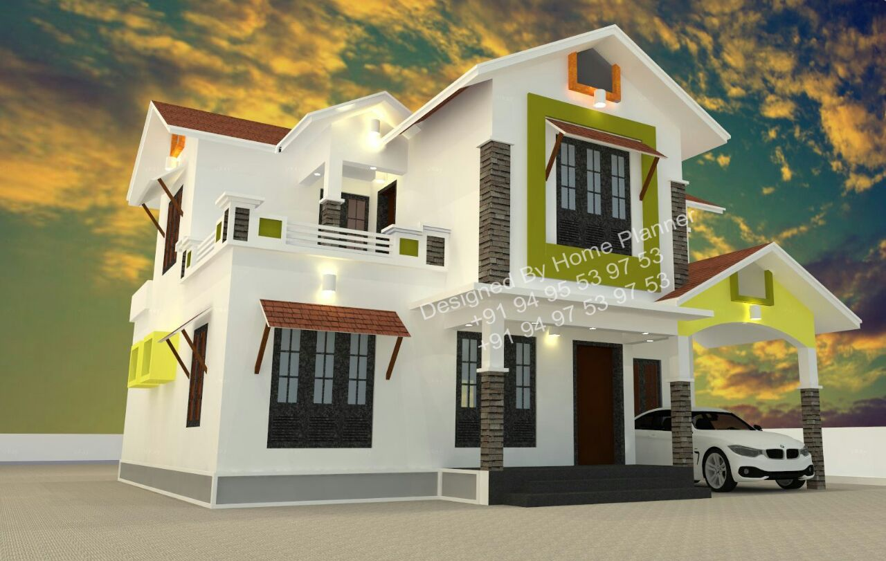 Excellent modern kerala home designs 2015 for Home designs 2015