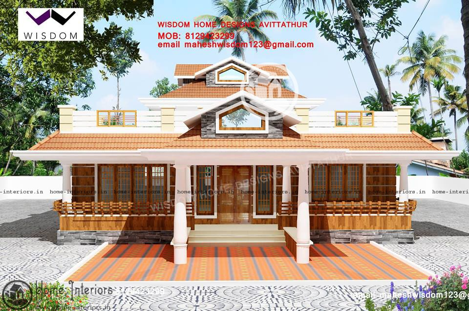 3 bhk super single floor house design house plan for House plans in kerala with 2 bedrooms
