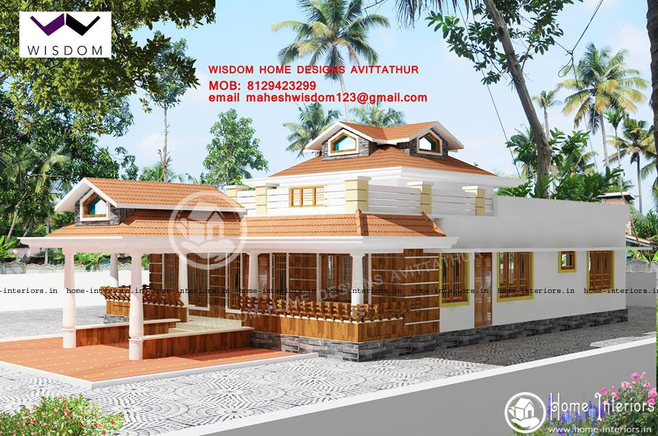 3 bhk super single floor house design house plan for House plans below 1500 sq ft kerala model