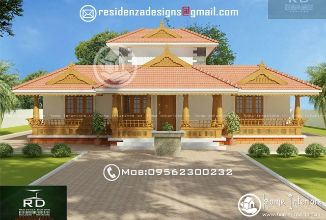 House plans kerala model nalukettu home design and style for Low cost kerala veedu plans