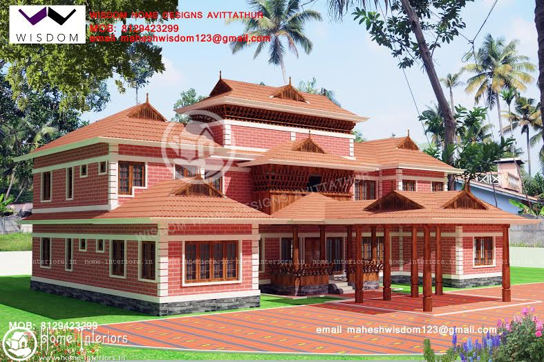 2956 sqft beautiful nalukettu model home plan for New model veedu photos