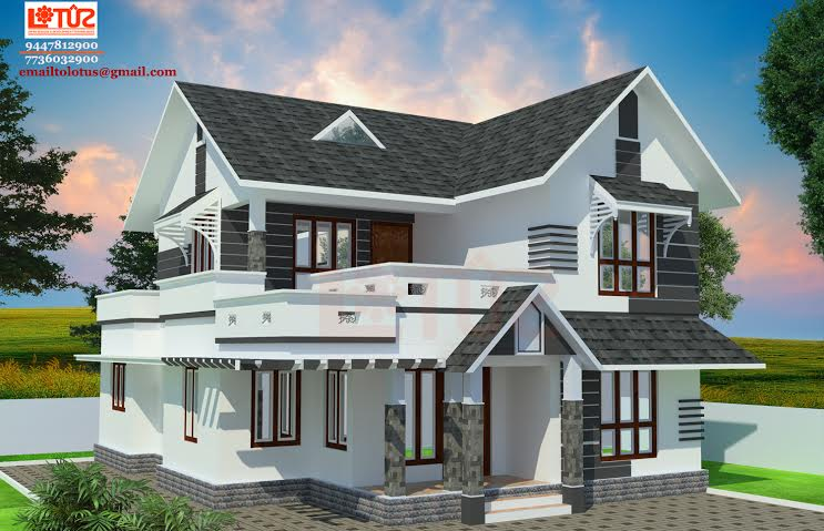 1500 sq ft modern style home design for 1500 sq ft house plans kerala