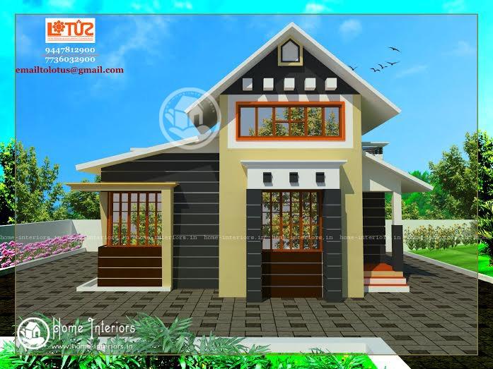 685 Sq Ft Single Floor Modern Style Home Design
