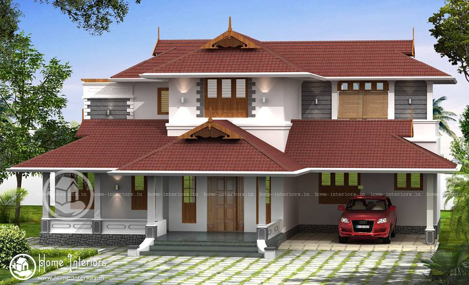 2300 sq ft beatiful house design for Kerala traditional home plans with photos