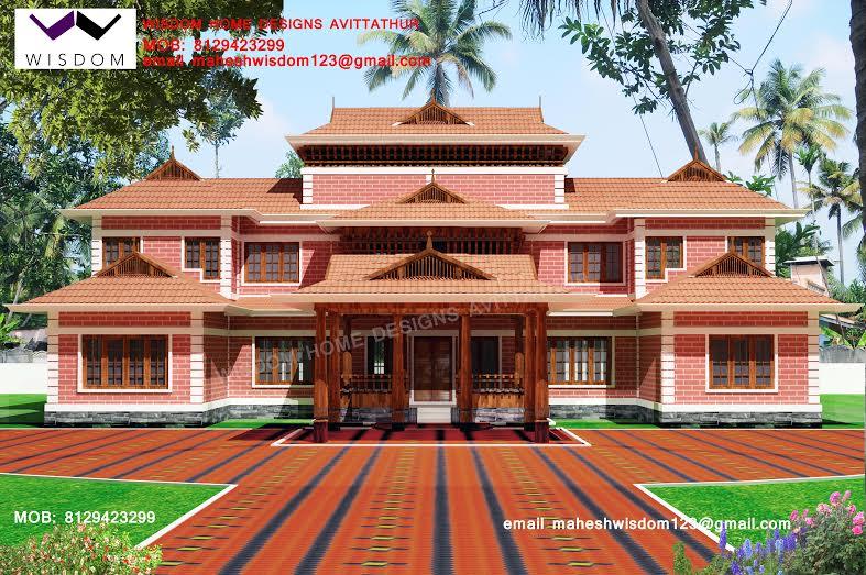 2956 Sqft Beautiful Nalukettu Model Home Plan