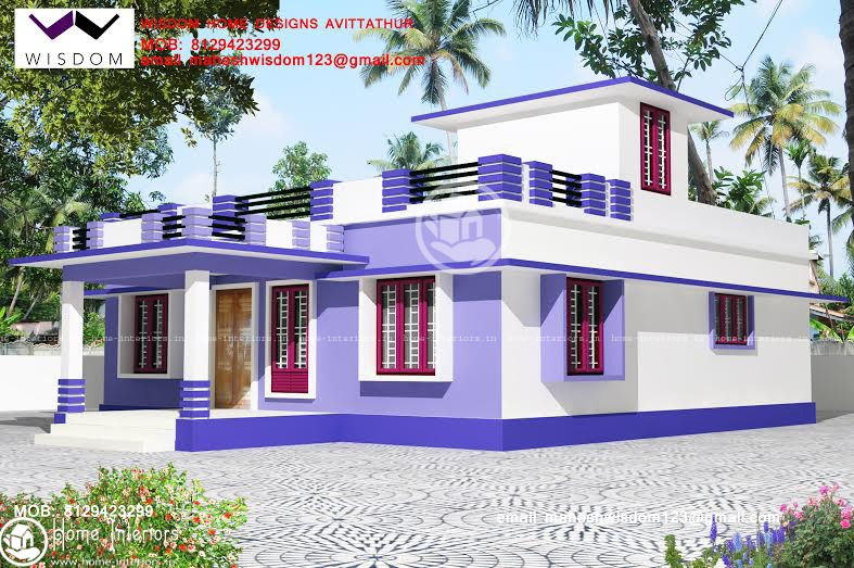 1250 sq ft beautiful simple home design for Simple house blueprint