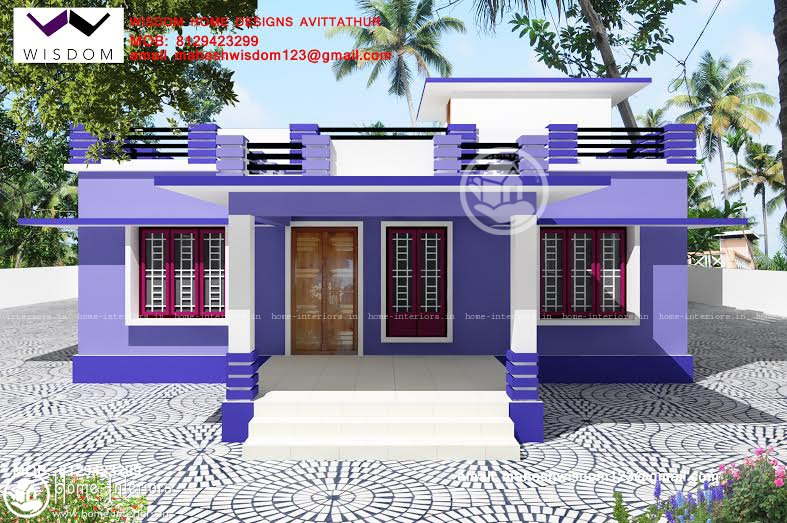 1250 sq ft beautiful simple home design for Simple modern house models
