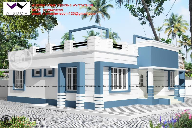 1285 sq ft single floor home plan for Single storey nalukettu house plans