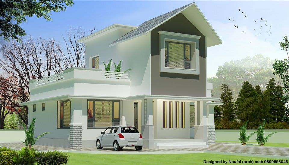1250 sq ft double floor home plan for Home designs double floor