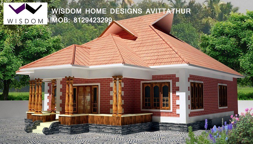 950 sq ft kerala traditional home design for Traditional home designs kerala