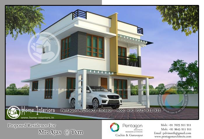 1436 sq ft double floor home plan 3 cent plot