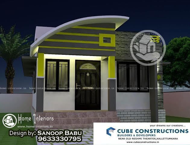 540 SQ FT Low Budget Single Floor Home Design