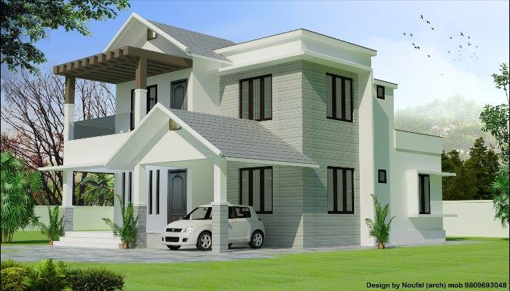1800 sq ft beautiful double floor home design for 1800 sq ft indian house plans