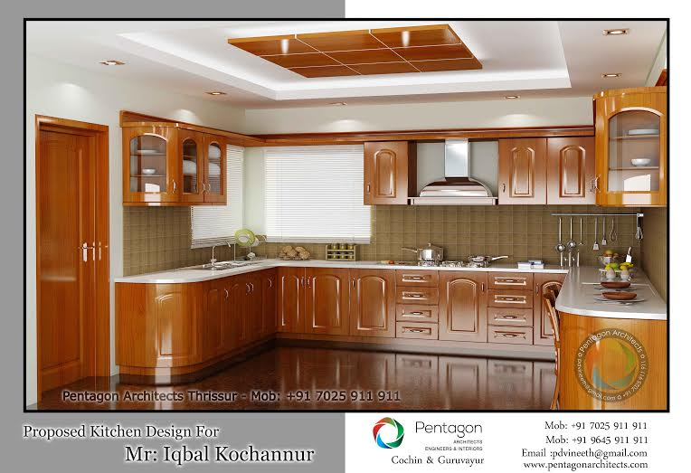 Kitchen Design Kerala Style traditional wooden style kitchen interior design