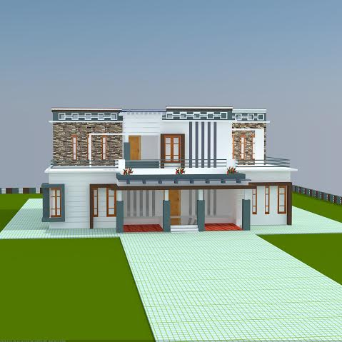 2604 sq ft 4 bhk double floor home design for 1st floor balcony design