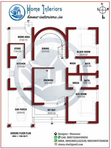 1200 Sq Ft Single Floor Home Design Download Plan