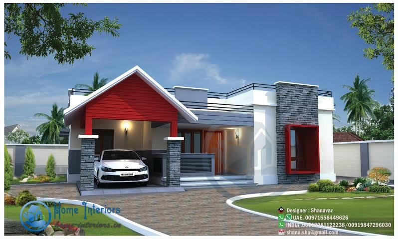 1200 Sq Ft, Single Floor Home Design, Download Floor Plan