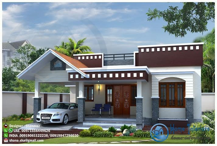 Single Floor House Elevation Designs In : Modern single floor kerala home