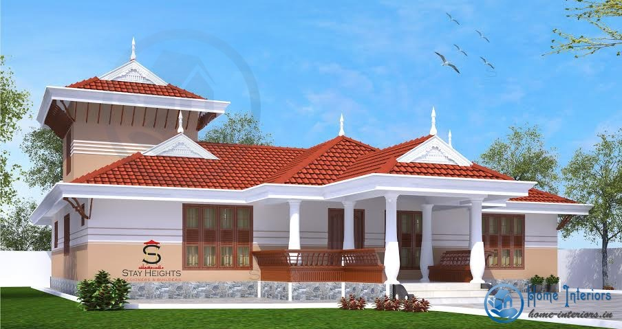 single floor kerala traditional home design