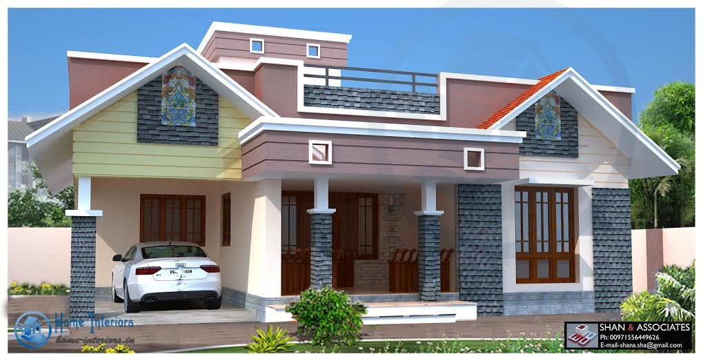 Single floor kerala home design for One floor house plans