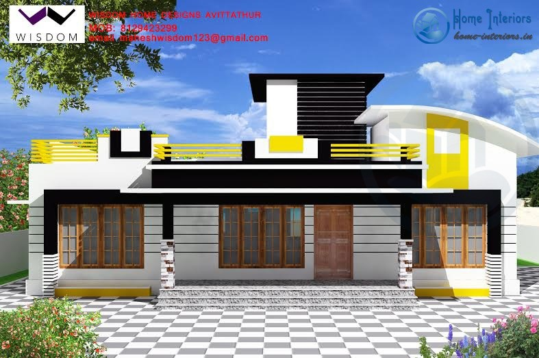 Modern single storied kerala home plan 4bhk for Kerala house interior painting photos