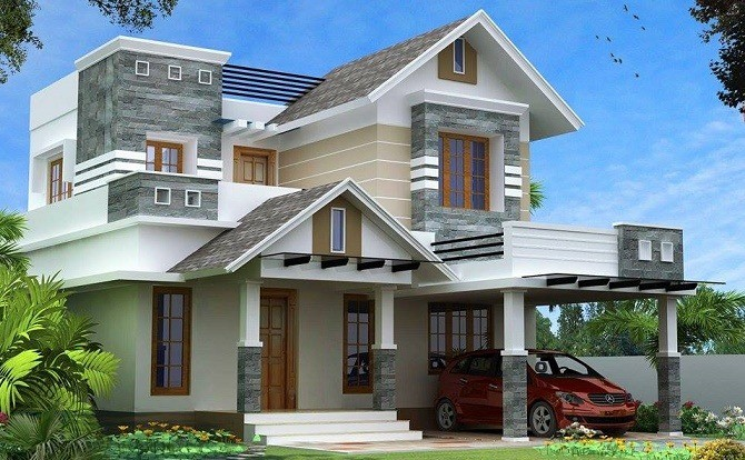 Kerala House Foyer : Modern kerala style house design with bhk