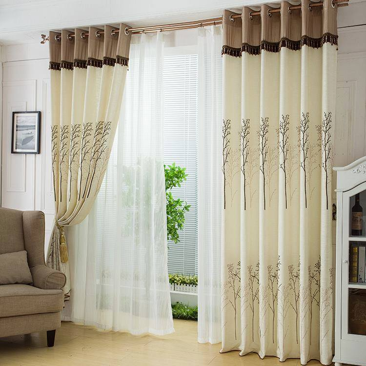 Awesome living room curtain designs for Curtain designs living room