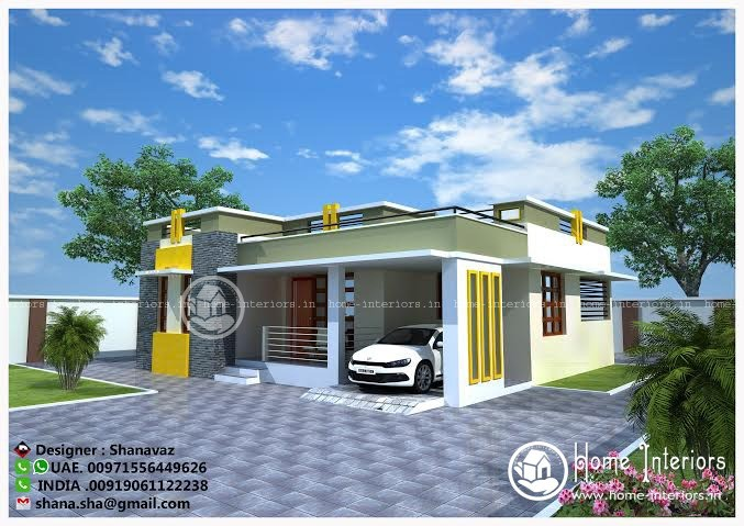 Modern 1400 Sq Ft Ground Floor Villa Home Design - Home-Interiors