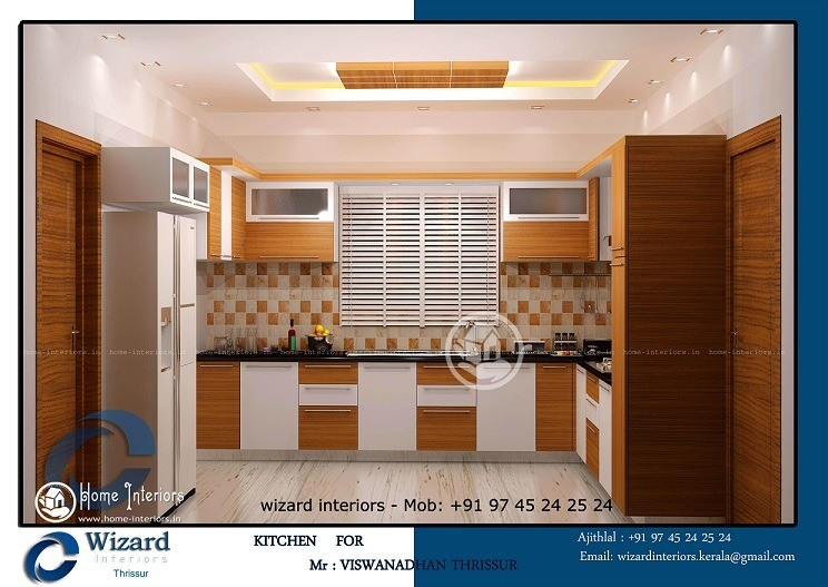 Delightful kerala home kitchen interior designs for Kitchen designs kerala