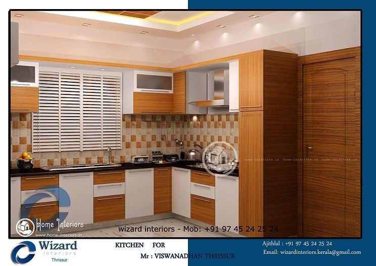 Delightful kerala home kitchen interior designs for Kitchen design kerala