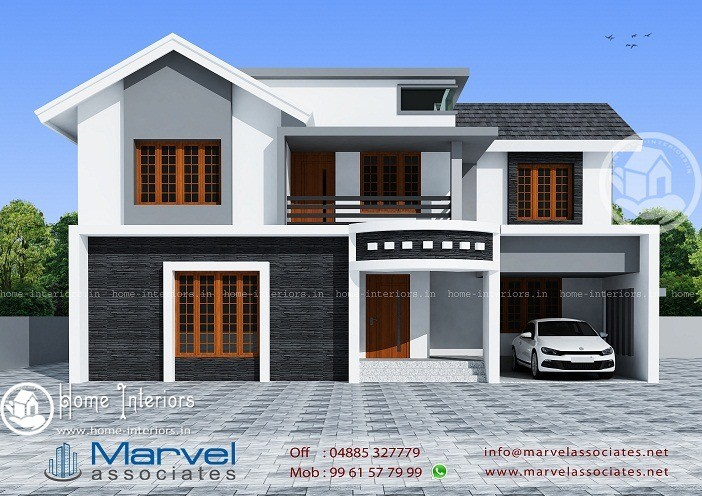 1750 sqft double floor contemporary home design