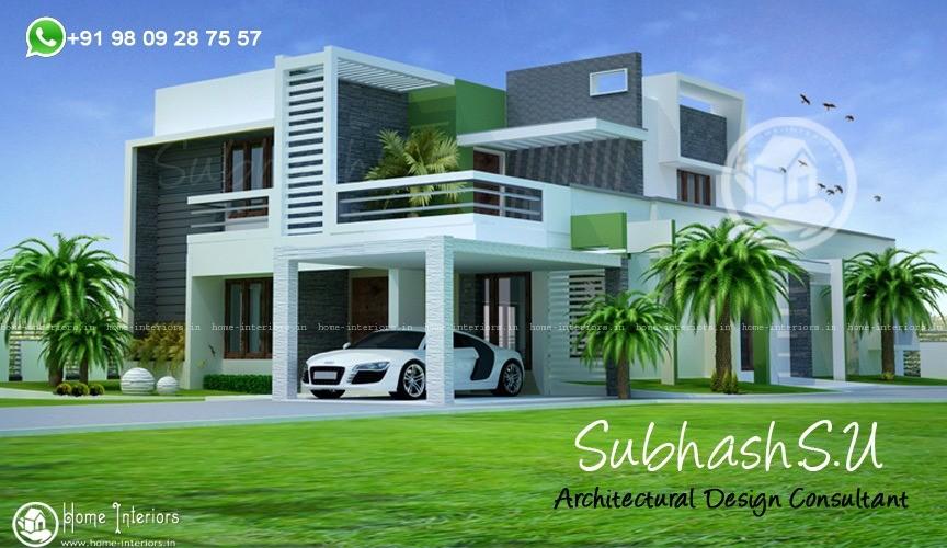 Highly Advanced Double Floor Kerala Home Design